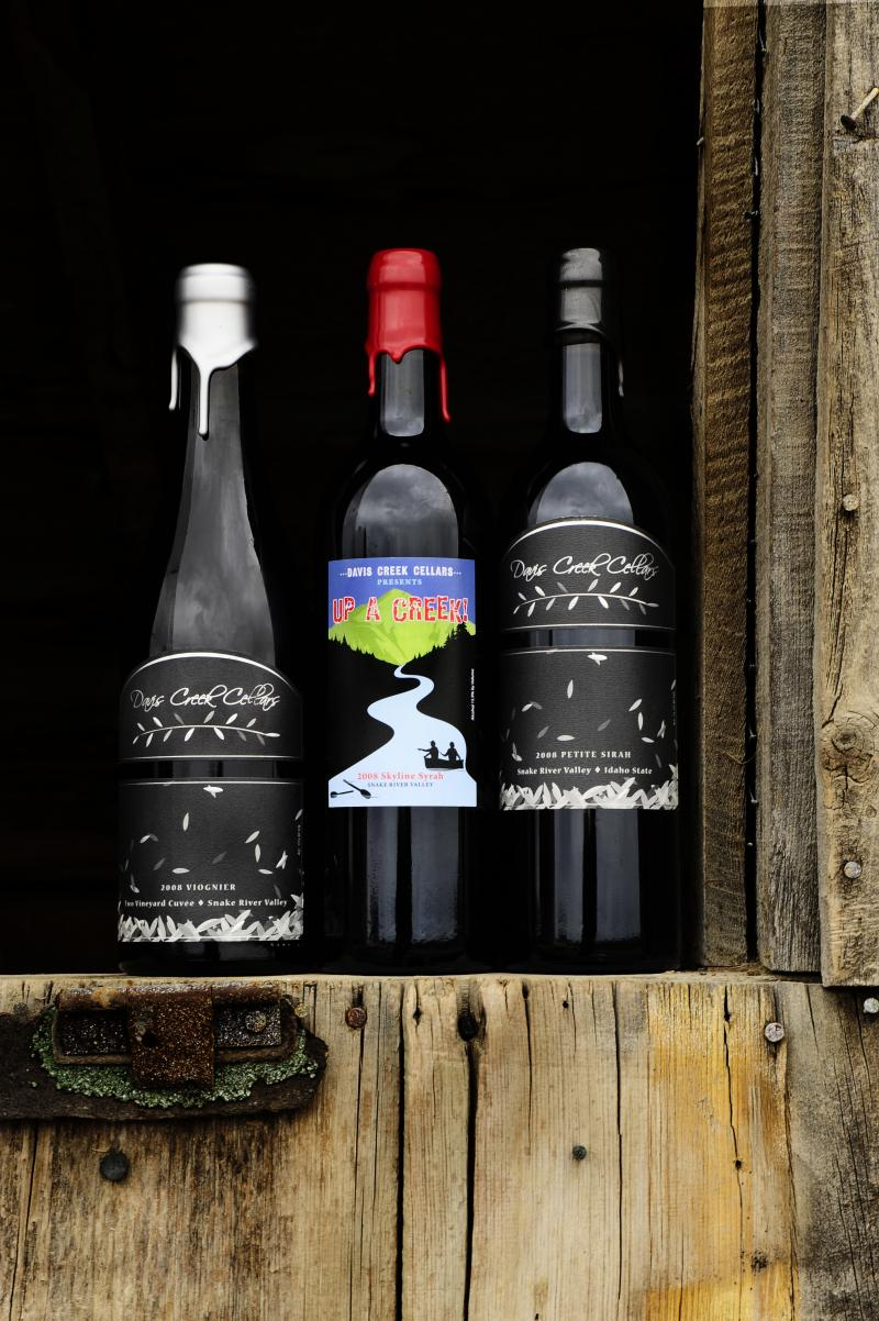 Davis Creek Cellars Wine Bottles