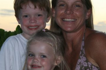 Erin Mullen with children Carson and Claire