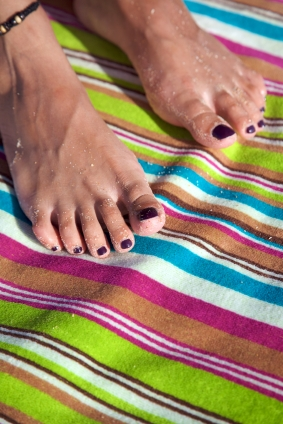 Purple Toenails