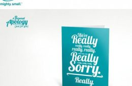 o.b. tampon apology card