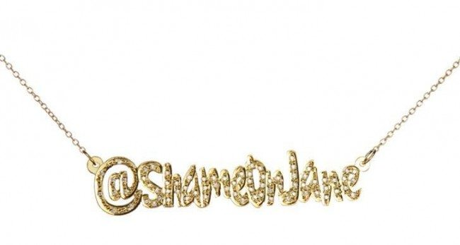 Shame On Jane Diamond Twitter Necklace