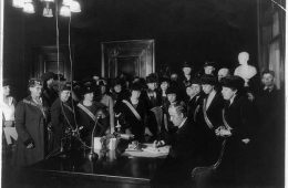 Governor Edwin P. Morrow signing the 19th Amendment Jan 1920