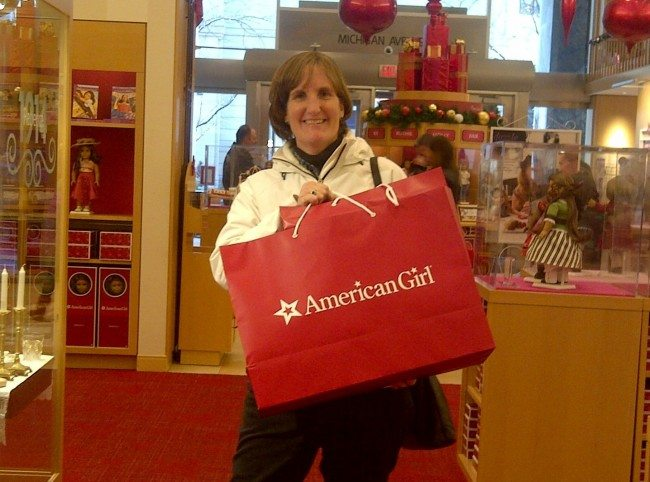 Lisa Paul at American Girl Doll store in Chicago
