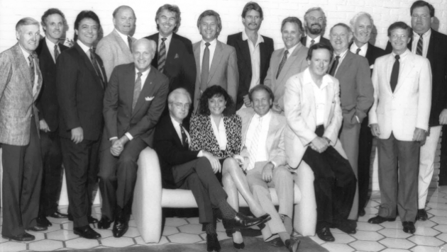 1987: Nancy Shapiro, then Exec Director at Nashville Chapter with past Chapter Board Presidents