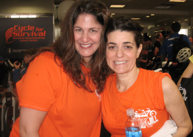 Cynthia Hornig with Jill Fagin_2013 Cycle for Survival
