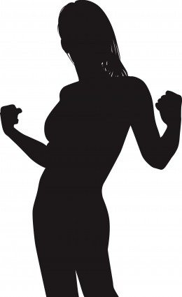 strong woman silhouette