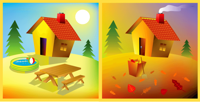 House summer to fall