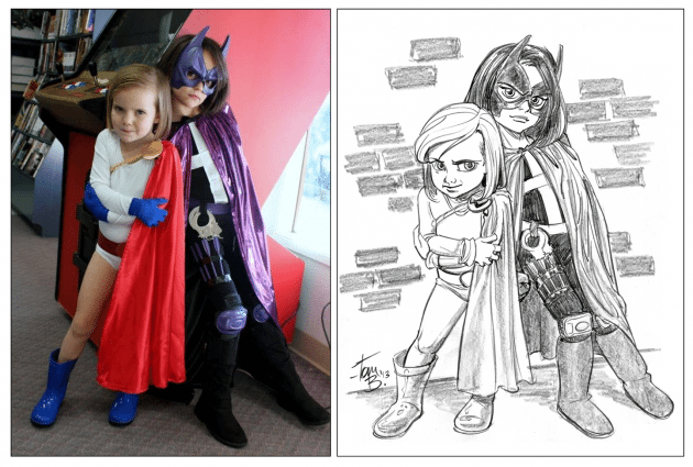 Anya and Stella as Huntress and Power Girl
