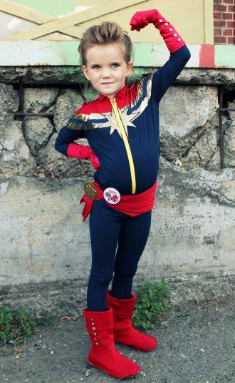 Stella Grace (age 6) as Captain Marvel