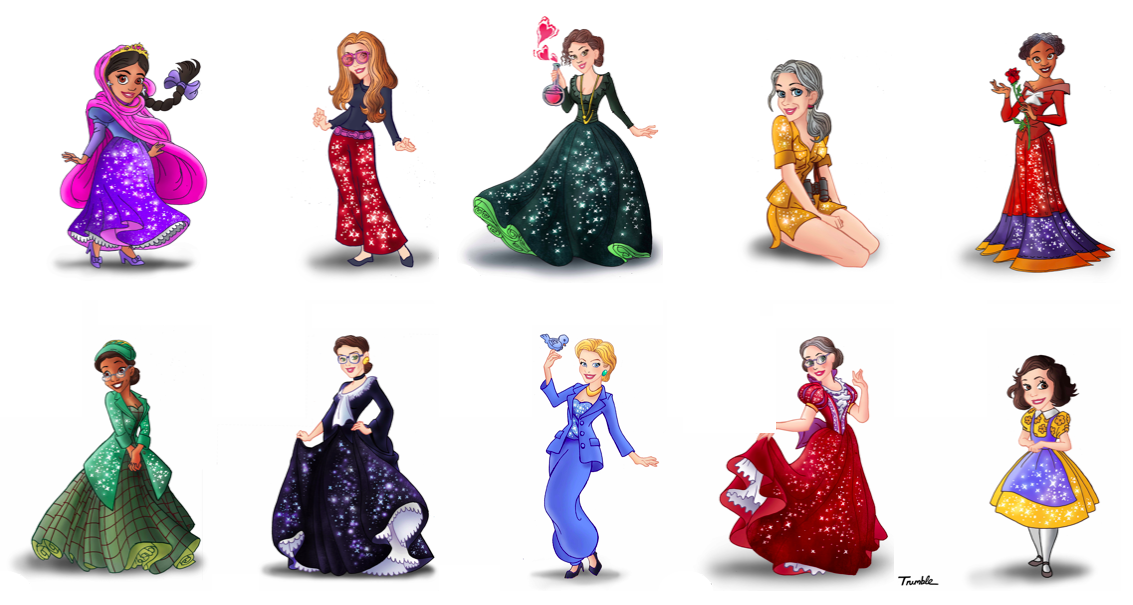 David Trumble Disney Princesses