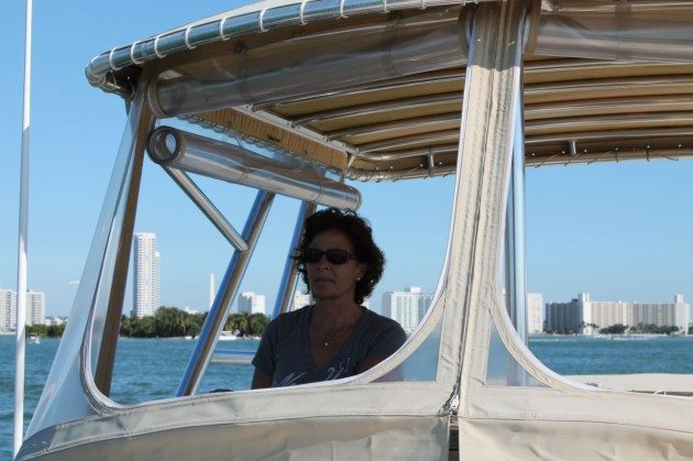Cathy on the Cathy Ann