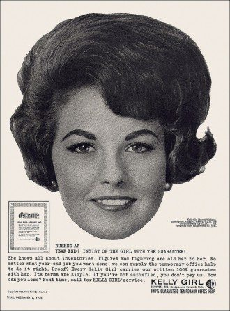 Kelly Girl ad 1963