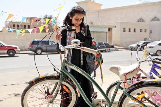 Wadjda with bike