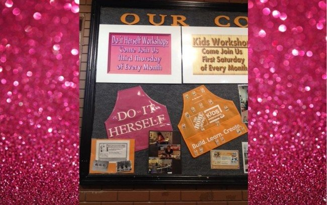 Home Depot Changes Signature Orange To Bedazzled Pink For Women