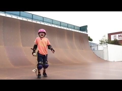 Determined Nine-Year-Old Skater Girl Lands Her First 540!