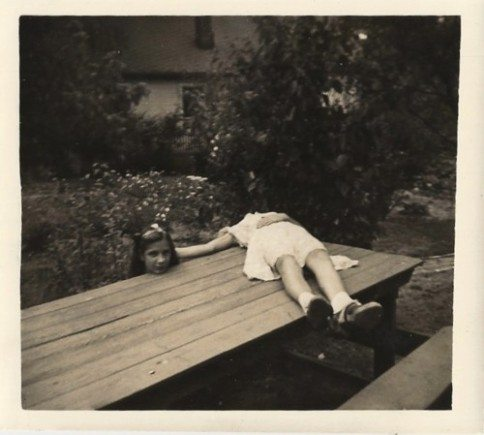 "An early example of ""horsemanning"", the 1920's version of ""planking"""