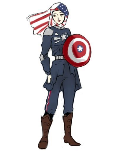 Nora_CaptainAmerica