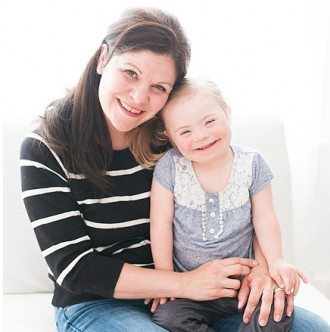 Katie Driscoll with her daughter, Grace. Photo: Maryelle Godinez of Multiple Blessings Photography