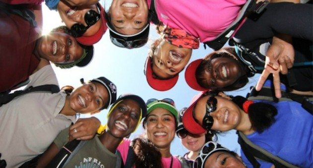 Before climbing Mt. Kilimanjaro on International Women's Day 2013 (photo c/o wfp.org)