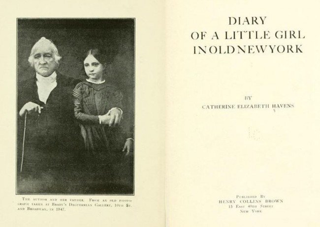 """From The Internet Archive: The Delightful """"Diary Of A Little Girl In Old New York"""""""