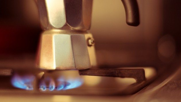 Italian coffee maker on stove