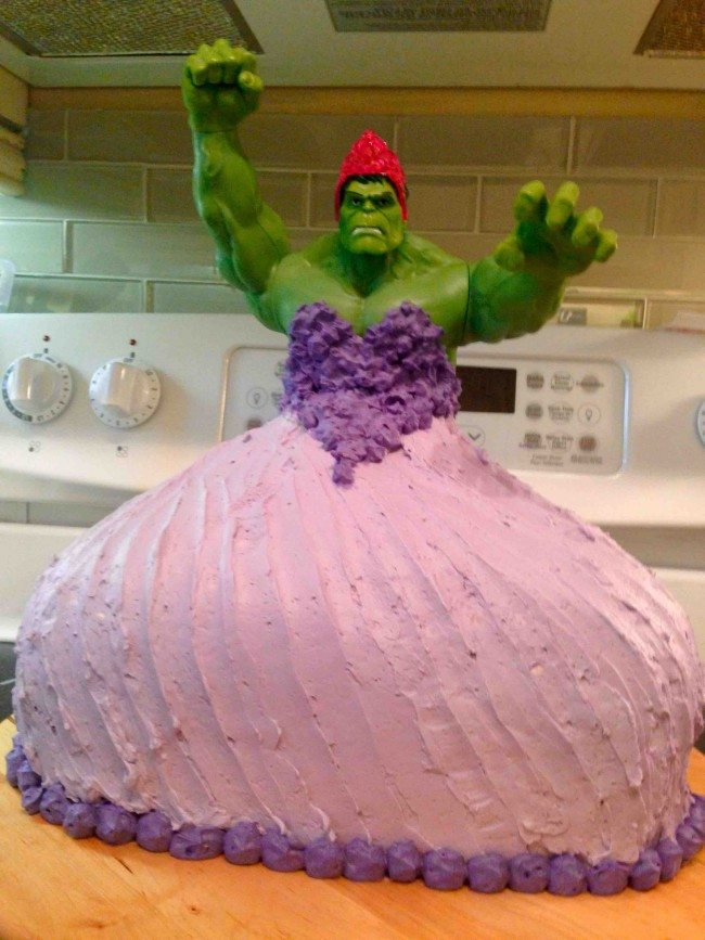 When Your Kids Ask For A Hulk Princess Cake