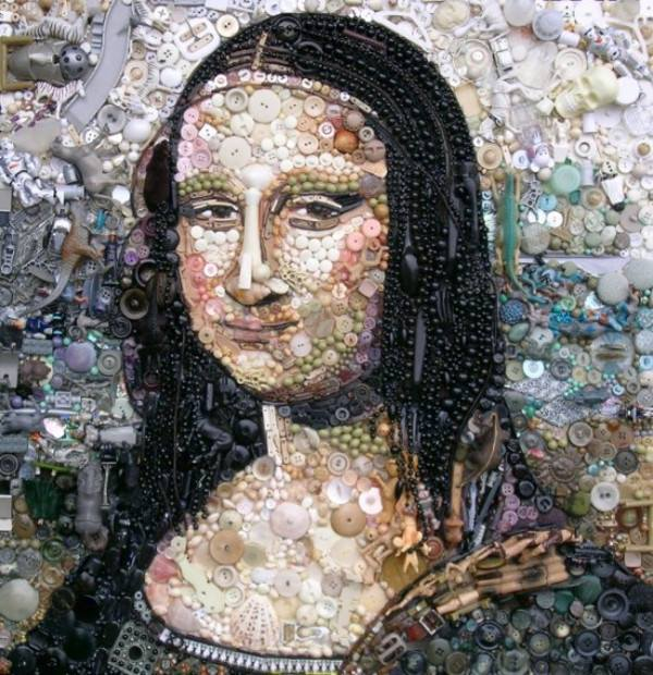 Mona-Lisa-button-art