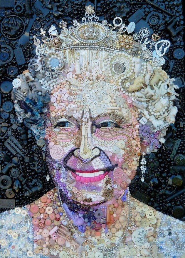 Queen-Elizabet-the-II-button-art