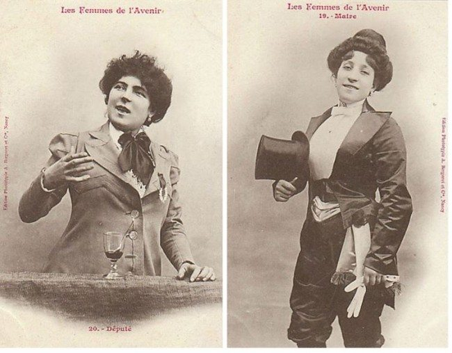 Women Of The Future Postcards, Circa 1902