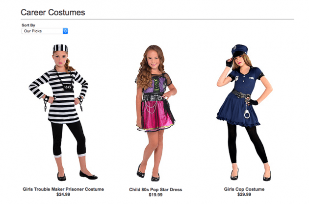 party city girls costumes