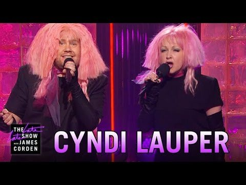 "Cyndi Lauper And James Corden Sing ""Girls Just Want Equal Funds"""