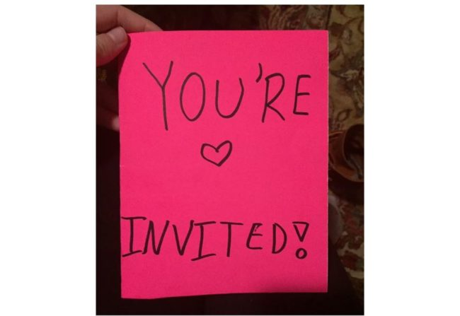 12YearOld Girl Writes Fierce Party Invitation To Little Sisters