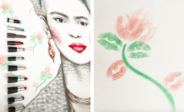 lipstick lex frida flower