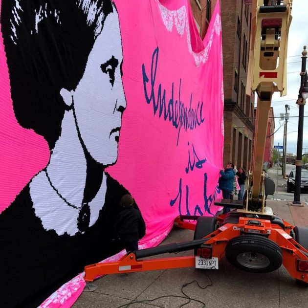 Susan B. Anthony Crochet Mural