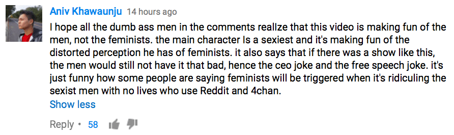 dumbass men comment