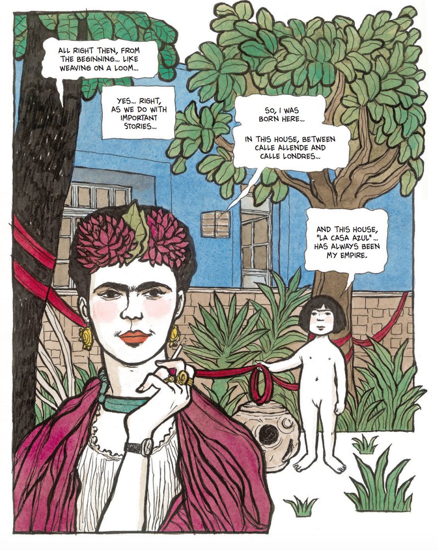 frida kahlo graphic novel spread