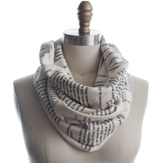 book lovers scarf