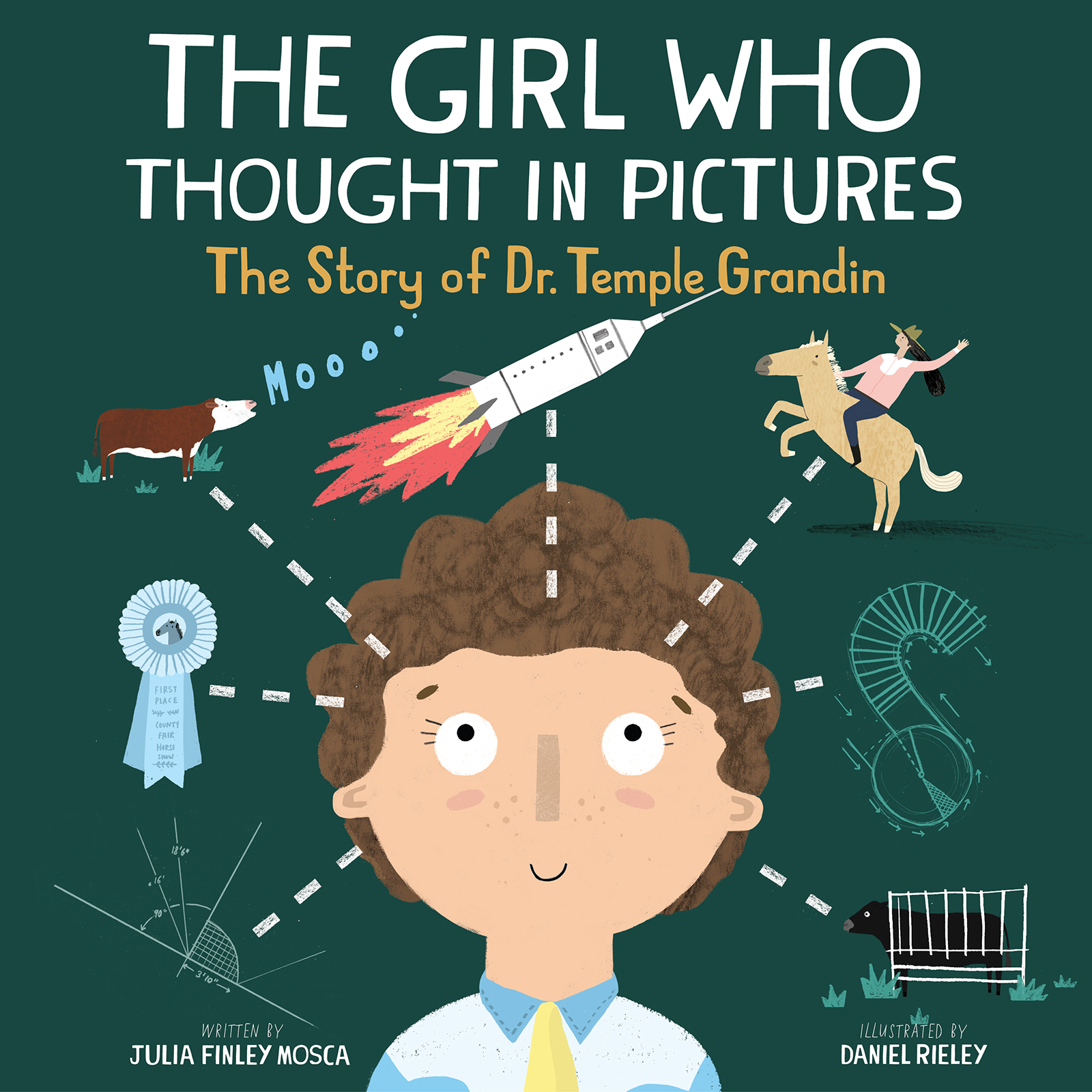 Illustrated Children S Book Covers ~ The girl who thought in pictures a children s book celebrating dr