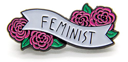 feminist pin girl power