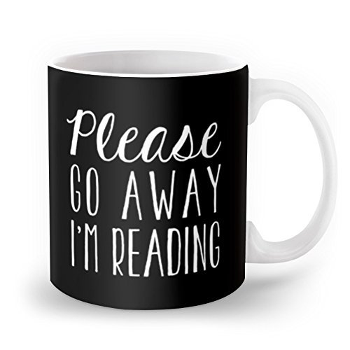 book lovers go away mug