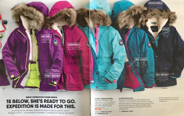 lands' end girls parkas