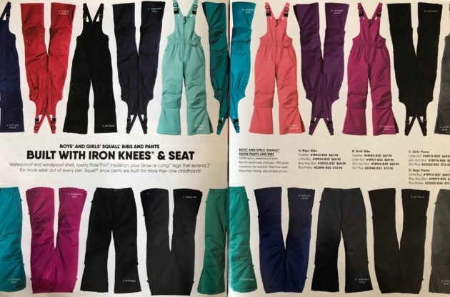 lands' end bibs and pants