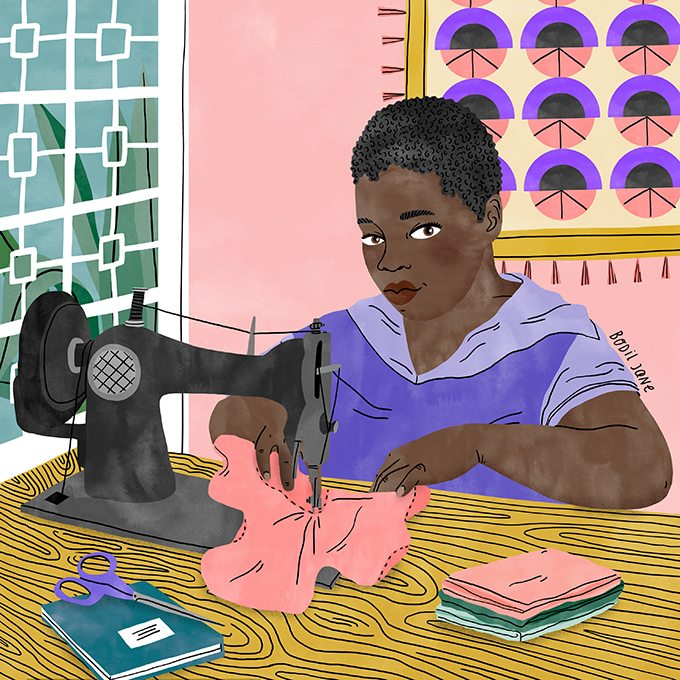 Illustration by Bodil Jane for UNFPA